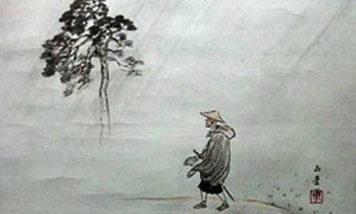 litographie japonaise pèlerin